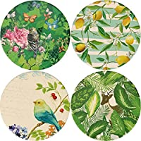 (Beautiful Songbirds) - LogHog Ceramic Coaster Set of 4, Glasses Cup Holder Coffee Mug Place Mats Absorbent Stone Coasters for Drinks(Beautiful Songbirds)