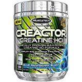 MuscleTech Creactor, Max Potency Creatine Powder, Micronized Creatine and Creatine HCl, Blue Raspberry, 120 Servings (300g)