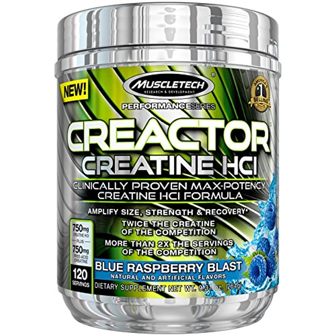 ホームエミュレーションインチMuscleTech Creactor 120 Servings Blue Raspberry Blast 9.32 oz (264 g)[並行輸入品] …