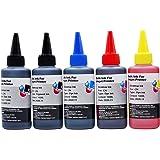 キャノン CANON 詰め替え 互換インク100ml 5色セット PGBK顔料・(BK/C/M/Y 染料) 補充用インクボトル