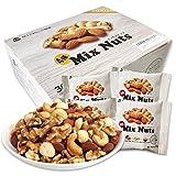 小分け4種 ミックスナッツ 1.05kg (35gx30袋) 箱入り 産地直輸入 無塩 無添加 食物油不使用 (生くるみ30% アーモンド35% カシューナッツ15% 生マカダミア20%)