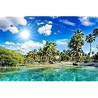 エキゾチックなビーチビーチ - #41353 - キャンバス印刷アートポスター 写真 部屋インテリア絵画 ポスター 50cmx33cm
