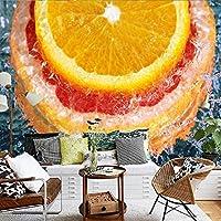 Xbwy 壁紙3Dカスタム美しい移動水オレンジテレビの背景装飾的な壁画フルーツショップレストランショッピングモール壁紙-280X200Cm