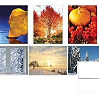 Turning of the Seasons Fall and Winter - 36 Note Cards - 6 Designs - Blank Cards - White Envelopes Included [並行輸入品]