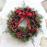 グランドグルー クリスマスリース 造花 直径23cm Mサイズ
