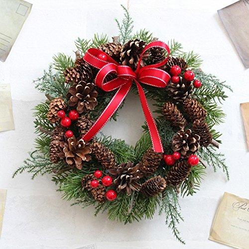 グランドグルー クリスマスリース 造花 直径23cm Mサイ...