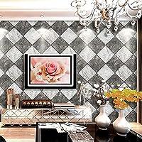 壁紙、スタイリッシュな3Dステレオ模造タイル大理石のリビングルームの壁デカール防水と洗えるpvc環境保護パーティー壁画アートの装飾壁布 (Color : B)