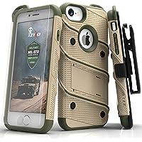 Zizo Bolt Case For iPhone 7 ボルト ケース 耐衝撃 スタンド付き 強化ガラス 極薄 0.33mm 硬度 9H 液晶 保護フィルム 付属 7 / 6 / 6s 対応 【正規代理店品 】 デザートタン/カモグリーン