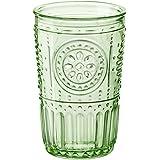 Bormioli Rocco 387595GRS021524 Romantic Tumbler, Set of 4, 10.25 oz, Pastel Green