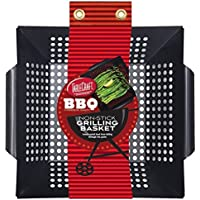 Tablecraft BBQ1412M Non Stick 13 by 12-Inch Square Grilling Basket with Steel Handle, Small, Black [並行輸入品]