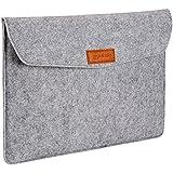 AmazonBasics 15.4-Inch Felt Laptop Sleeve - Light Grey