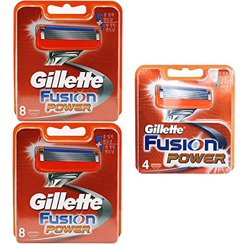 Gillette Fusion Power Blades Cartridges 本物のドイツ製 20 Pack [並行輸入品]