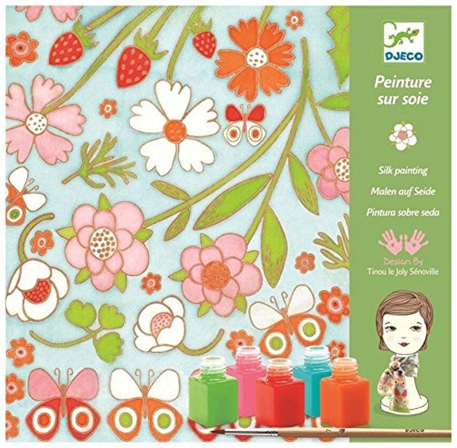 Djeco dj09852シルクpainting- Butterflies Playset