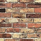 【壁紙シール15mセット】壁紙 はがせる クロス のり付き 壁紙シール おしゃれ レンガ [dbs-16] 幅60cm×長さ15m単位 壁用 リメイクシート アクセントクロス ウォールステッカー DIY 壁紙 シール 壁シール カッティングシート アンティークレンガ