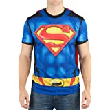 Bioworld Superman Sublimated Costume with Cape T-Shirt