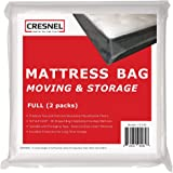 CRESNEL 4-Mil Commercial Heavy Duty/Super Strong Clear Mattress Plastic Bag Cover Sheet Storage (Different Quantity/Size Sele