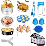 Accessories for Instant Pot,Accessories Compatible with 5/6/8Qt Instant Pot - 60 Pcs Cake Baking Papers,2 Steamer Baskets,Non