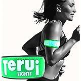 TERUI Lights Osaka LED ランニング ライト アームバンド 反射板 自転車 裾バンド 蛍光 たすき 夜間 ウォーキング サイクリング ジョギング 反射材 バイク グッズ