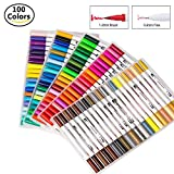 100色セット 筆ペン 水彩毛筆 線画ペン 水性ペン カラーペンセット クリーンカラー 塗り絵 オフィス用品 筆記具