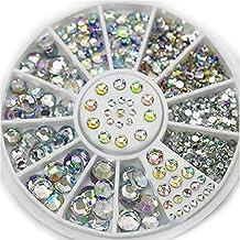 Niome Professional Acrylic Glitter 3D Nail Art Decoration+Wheel Use On Top Of Nail Polish