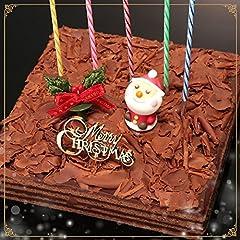 クリスマスケーキ チョコレートケーキ ボヌール・カレ 30年変わらぬおいしさ[凍]ココア生地とガナッシュクリームの8層サンドxmasケーキ