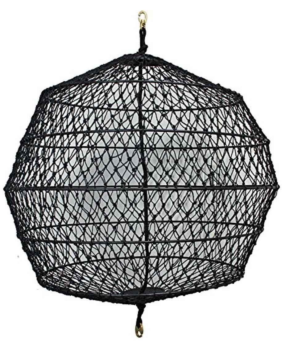 天才寸法膿瘍網式黒色球形形象物 網式黒球 丸形 直径60cm×縦75cm