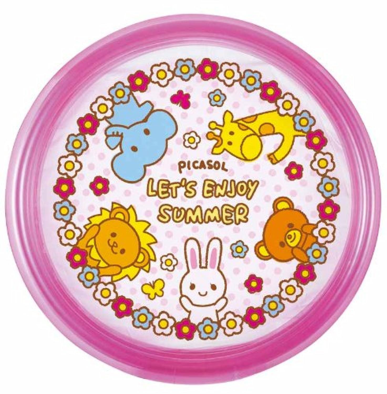 丸型ビニールプール ピンク 直径100cm × 高さ30cm DU-14032