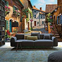 Xbwy 3Dクリスタルシルク壁画壁紙3Dコンタクト壁紙紙家の装飾壁紙用リビングルーム自己接着ストリートシティアート-120X100Cm