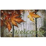 E-view Welcome Door Mat for Entry Home Patio Garden - Decorative Fall Doormat Rubber Floor Mat Durable Entrance Rug Indoor Ou