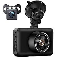 【 最新 防犯カメラ 機能強化型 】 ドライブレコーダー 前後カメラ 赤外線暗視ライト 1080PフルHD高画質 170…