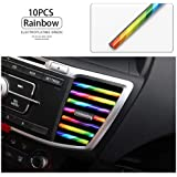 LEIWOOR 10 Pcs Car Interior Moulding Trim Car Air Conditioning Air Outlet Colorful Film Car Interior Exterior Decoration Seal