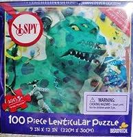 "I Spyグリーンモンスター100Piece Lenticular Puzzle 9"" x 12"""