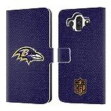 オフィシャル NFL フットボール ボルティモア・レイブンズ ロゴ レザー手帳型ウォレットタイプケース LG AKA