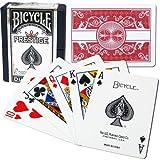 商標100% Plastic Bicycle Prestige dura-flex Rare Playing Cards (Red)