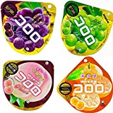 UHA味覚糖 コロロ 4種セット<グレープ・マスカット・国産白桃・三日月みかん>1セット・計4個