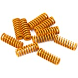 LEOWAY 8mm OD 20mm Long Light Load Compression Mould Die Spring Yellow for Heated Bed Ender 3 CR-10 CR-10Mini CR-10S Series 3