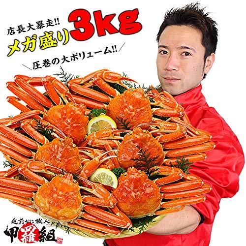 甲羅組 ズワイガニ カニ かに 蟹 ボイルずわいがに姿 3kg 6?7ハイ入 カナダ産