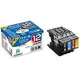【Amazon限定ブランド】レイワインクブラザー(brother) LC12-4PK 対応 4色セット リサイクルインク 日本製JIT-NB124P