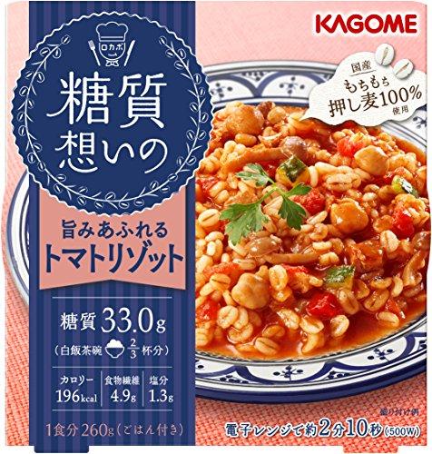 カゴメ 糖質想いの トマトリゾット (国産押し麦100% 使用) 260g×6個