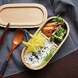 日本の新製品環境に配慮したポータブル木製の弁当箱箱の木製のシンプルな電子レンジオーブンラウンド弁当