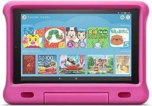 Fire HD 10 タブレット ブラック 64GB 【純正キッズカバー (ピンク) 付き】