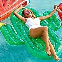 ビュラリー(Bulary) 浮き輪 超大サイズ サボテン形 可愛い プールパーティー 浮き輪 強い浮力 【耐荷重150kg】 フロート 海水浴 ビーチボード 水遊び 海フロート 180×140×20cm