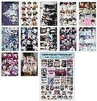 KPOP STAR A3ポスター12枚 + ステッカー1枚セット (A3 Poster + Sticker Set) / BTS TWICE IZONE EXO BLACKPINK TVXQ REDVELVET SHINEE WANNAONE GOT7 DAY6 MONSTAX SEVENTEEN SUPERJUNIOR STRAYKIDS TVXQ (WANNAONE)