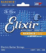 Elixir エリクサー エレキギター弦 NANOWEB Light .010-.046 #12052 【国内正規品】