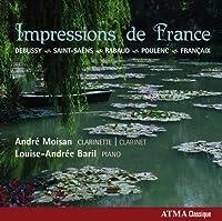 ドビュッシー: 第1狂詩曲 他 (Impressions de France - Debussy, Saint-Saens, Rabaud, Poulenc, Francaix / Andre Moisan, Louise-Andree Baril) [輸入盤]