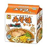 東洋水産 マルちゃん みそ味ラーメン 5食パック×6セット 1ケース