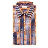 (プラダ) Prada メンズ トップス シャツ Prada Point Collar Cotton Dress Shirt Patterned [並行輸入品]