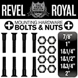 レベルロイヤル(Revel Royal) 1&3/4インチ 1.75インチ 44ミリ スケートボード スケボー デッキ&トラック用 プラス ビス ハードウエア ブラック