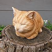 [ネコのオーナメント]香箱猫ミニ(茶トラ)12146[幅11cm、高さ13cm]