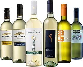 毎日楽しめるイタリアワイン ソアヴェ、トレッビアーノなど飲み比べ 白ワインだけ 750ml×6本セット [イタリア/白ワイン/辛口/ミディアムボディ/6本]